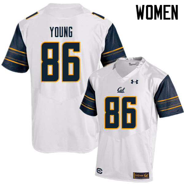 Women #86 Monroe Young Cal Bears UA College Football Jerseys Sale-White