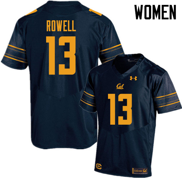 Women #13 Robby Rowell Cal Bears UA College Football Jerseys Sale-Navy