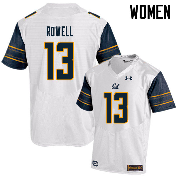 Women #13 Robby Rowell Cal Bears UA College Football Jerseys Sale-White
