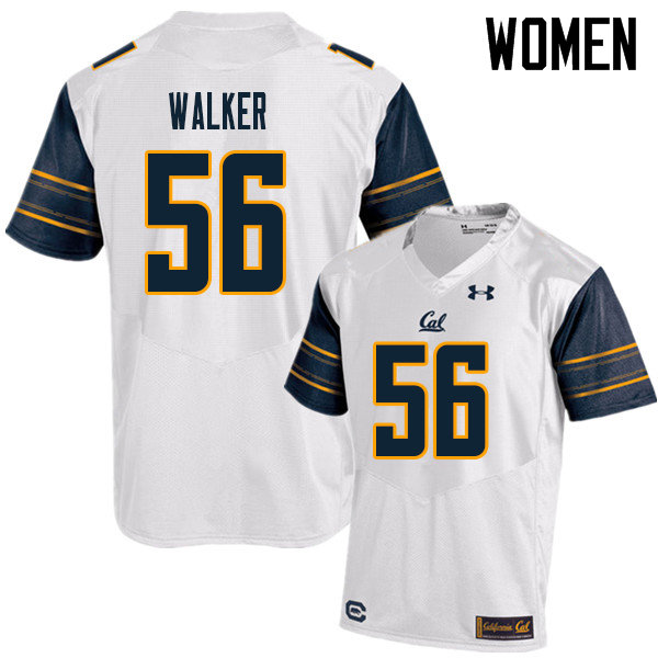 Women #56 Sam Walker Cal Bears UA College Football Jerseys Sale-White