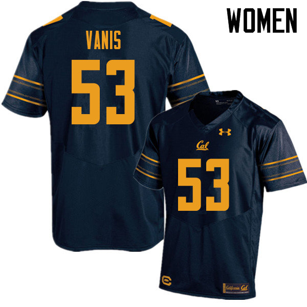Women #53 Tommy Vanis Cal Bears UA College Football Jerseys Sale-Navy