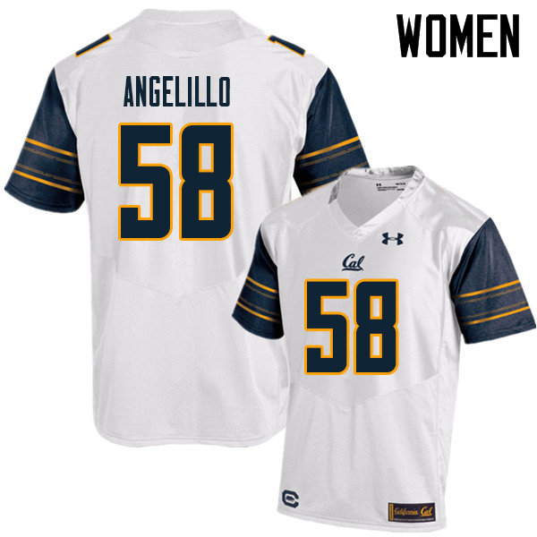 Women #58 Zach Angelillo Cal Bears UA College Football Jerseys Sale-White