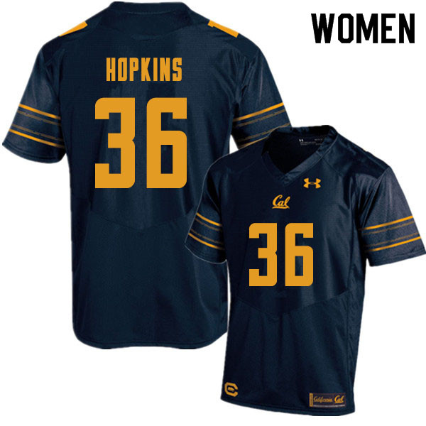 Women #36 D'Shawn Hopkins Cal Bears College Football Jerseys Sale-Navy