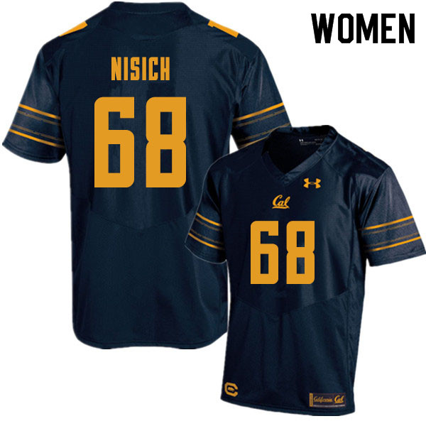 Women #68 Erick Nisich Cal Bears College Football Jerseys Sale-Navy