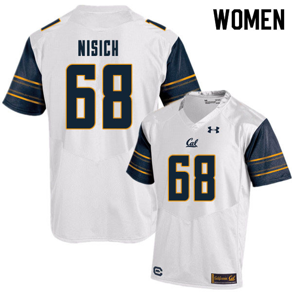 Women #68 Erick Nisich Cal Bears College Football Jerseys Sale-White
