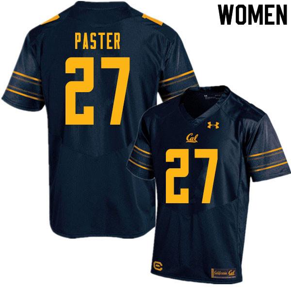 Women #27 Trey Paster Cal Bears College Football Jerseys Sale-Navy