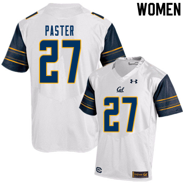 Women #27 Trey Paster Cal Bears College Football Jerseys Sale-White