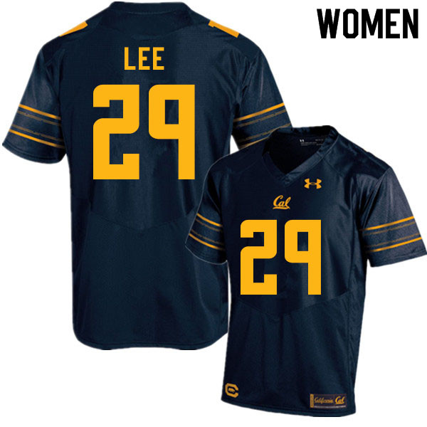 Women #29 Aidan Lee Cal Bears College Football Jerseys Sale-Navy