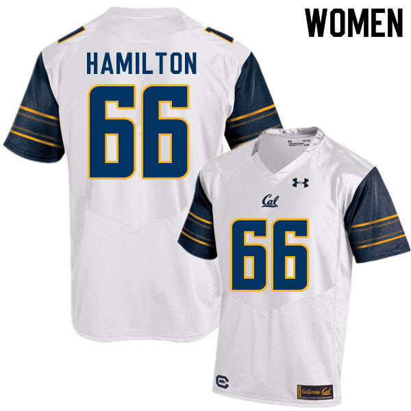 Women #66 Colin Hamilton Cal Bears College Football Jerseys Sale-White