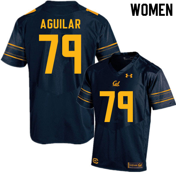 Women #79 Ender Aguilar Cal Bears College Football Jerseys Sale-Navy