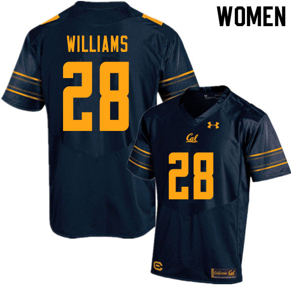 Women #28 Miles Williams Cal Bears UA College Football Jerseys Sale-Navy