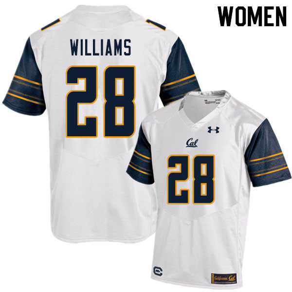 Women #28 Miles Williams Cal Bears UA College Football Jerseys Sale-White