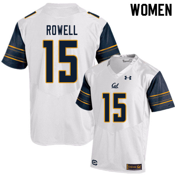 Women #15 Robby Rowell Cal Bears UA College Football Jerseys Sale-White