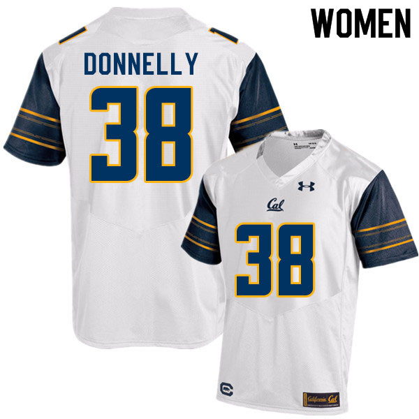 Women #38 Ronan Donnelly Cal Bears College Football Jerseys Sale-White