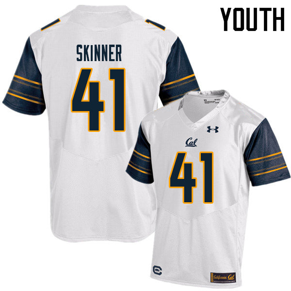 Youth #41 Ben Skinner Cal Bears UA College Football Jerseys Sale-White