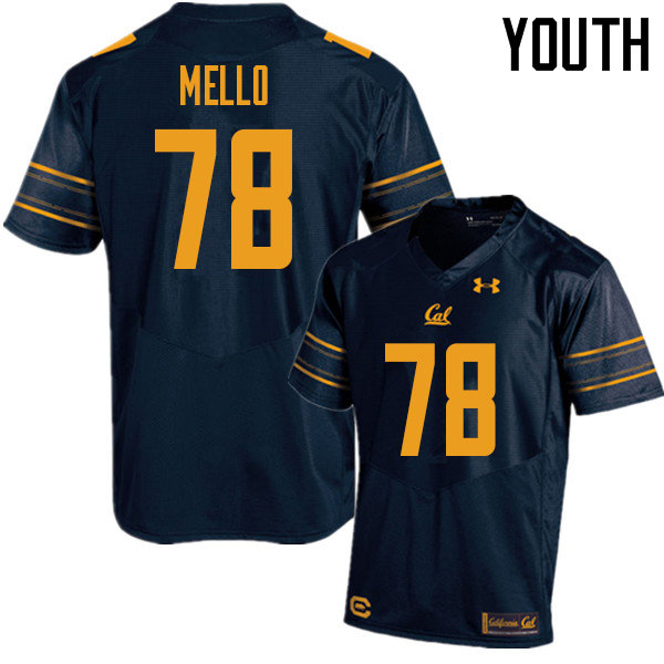 Youth #78 Brandon Mello Cal Bears UA College Football Jerseys Sale-Navy
