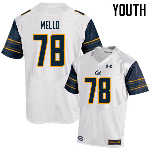 Youth #78 Brandon Mello Cal Bears UA College Football Jerseys Sale-White