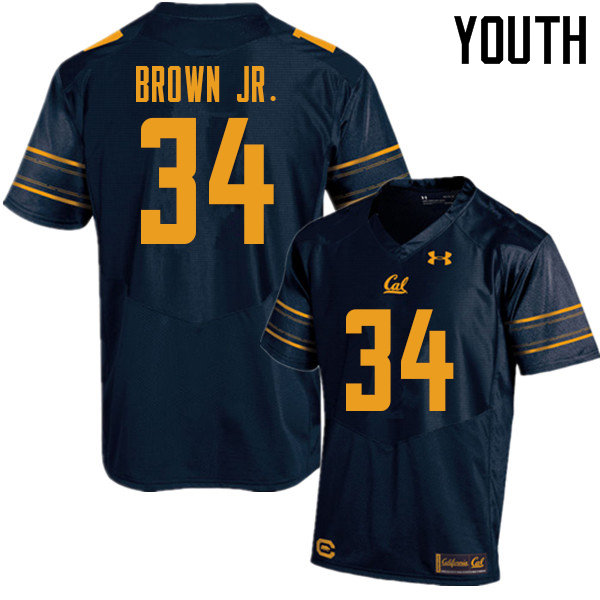 Youth #34 Christopher Brown Jr. Cal Bears UA College Football Jerseys Sale-Navy