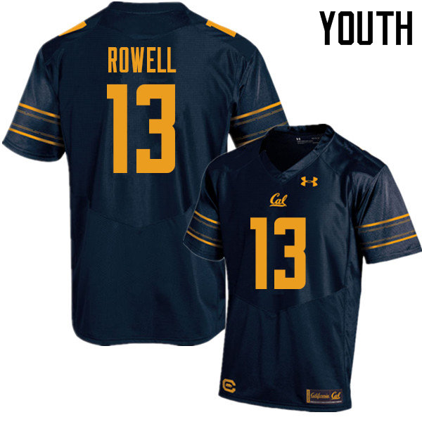 Youth #13 Robby Rowell Cal Bears UA College Football Jerseys Sale-Navy