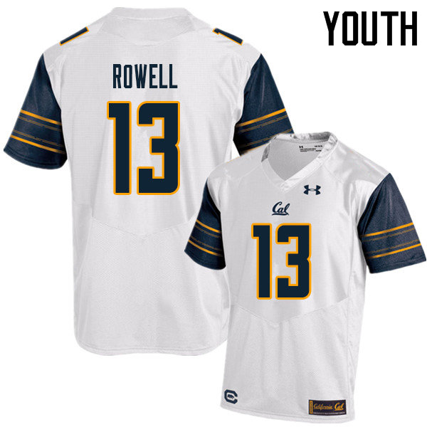 Youth #13 Robby Rowell Cal Bears UA College Football Jerseys Sale-White