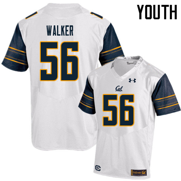 Youth #56 Sam Walker Cal Bears UA College Football Jerseys Sale-White