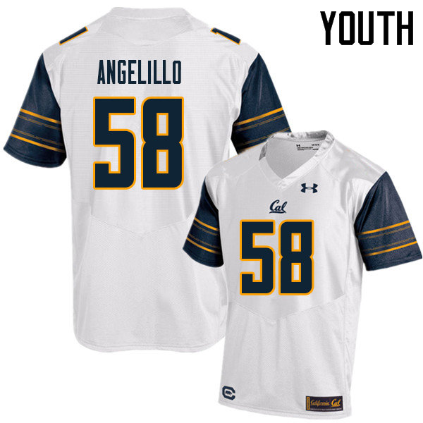 Youth #58 Zach Angelillo Cal Bears UA College Football Jerseys Sale-White