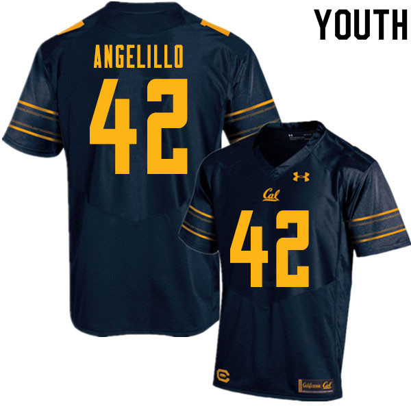 Youth #42 Zach Angelillo Cal Bears College Football Jerseys Sale-Navy