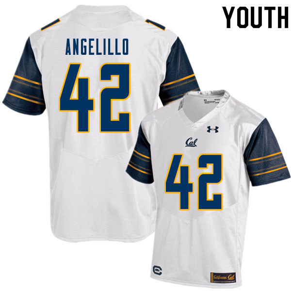 Youth #42 Zach Angelillo Cal Bears College Football Jerseys Sale-White