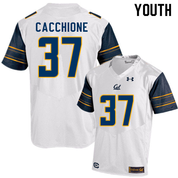 Youth #37 Dante Cacchione Cal Bears College Football Jerseys Sale-White