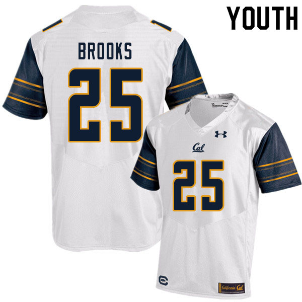 Youth #25 DeCarlos Brooks Cal Bears UA College Football Jerseys Sale-White