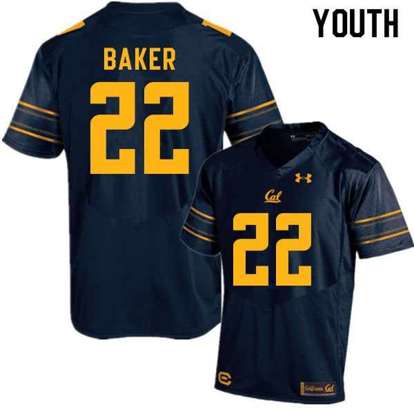 Youth #22 Justin Baker Cal Bears College Football Jerseys Sale-Navy