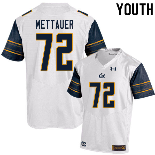 Youth #72 McKade Mettauer Cal Bears UA College Football Jerseys Sale-White