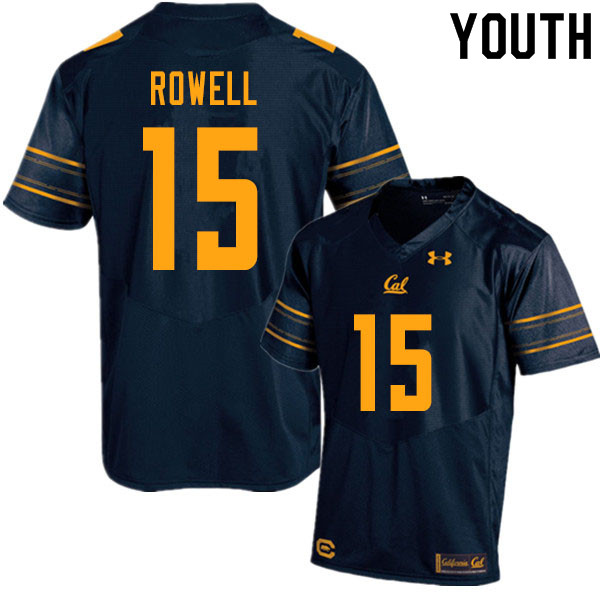Youth #15 Robby Rowell Cal Bears UA College Football Jerseys Sale-Navy