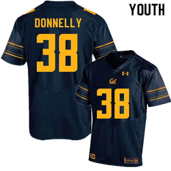Youth #38 Ronan Donnelly Cal Bears College Football Jerseys Sale-Navy